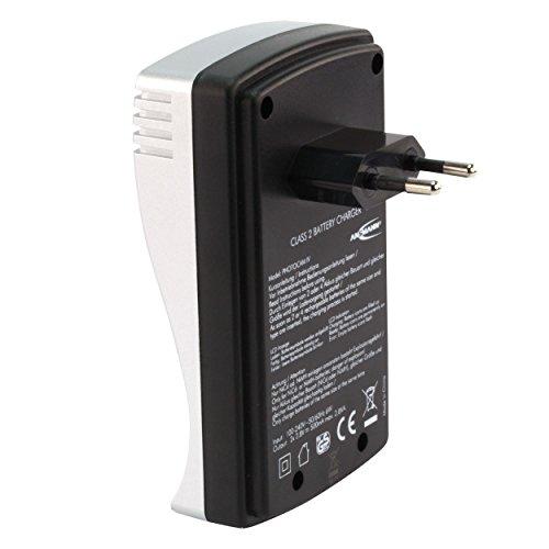 ANSMANN PhotoCam IV Akku-Ladegerät für Micro AAA/Mignon AA Akkus Steckerladegerät mit LCD-Anzeige + 4x AA Akkus 1300mAh - 4