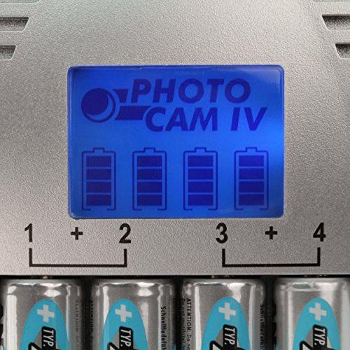 ANSMANN PhotoCam IV Akku-Ladegerät für Micro AAA/Mignon AA Akkus Steckerladegerät mit LCD-Anzeige + 4x AA Akkus 1300mAh - 5