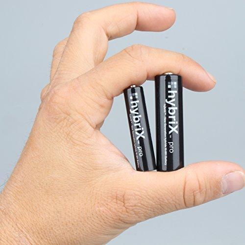 4er Pack hybriX pro Black AAA – 4x Micro AAA Hybrid Akkus in Box – Die Neue Generation von Hybrid Akku Batterien - 2
