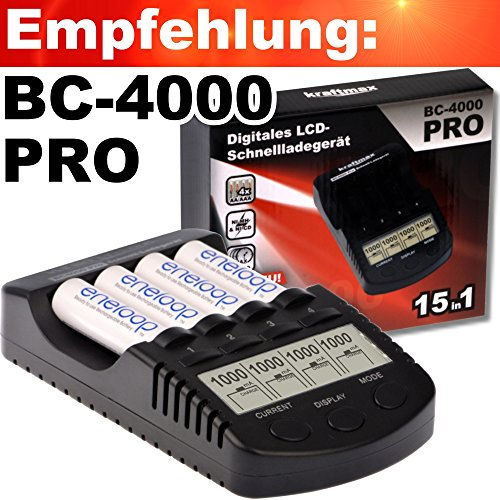 4er Pack hybriX pro Black AA – 4x Mignon AA Hybrid Akkus in Box – Die Neue Generation von Hybrid Akku Batterien - 4