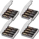 16er Pack Kraftmax hybriX pro Black Set - 16x Mignon AA Hybrid Akkus in hybriX Akkubox - Die Neue Generation von Hybrid Akku Batterien