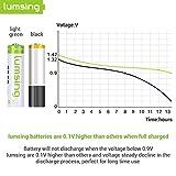 Lumsing 4 Pack AA Akku 2850mAh Ni-MH Wiederaufladbare Batterien Mit Batterie Speichern Box - 6