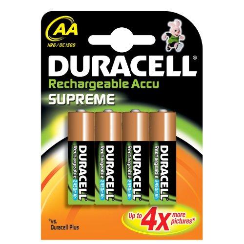 4 Stk. Duracell Rechargeable Mignon 2400mAh Supreme Akkus