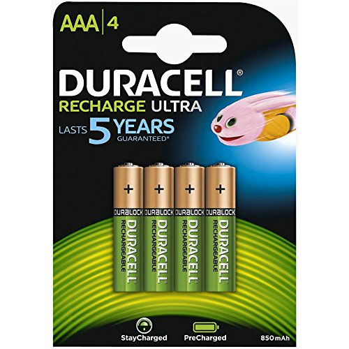 Duracell AAA HR03 Rechargeable Batteries Duralock Pre and Stay Charged 850mAh – Value 8 Pack - 2