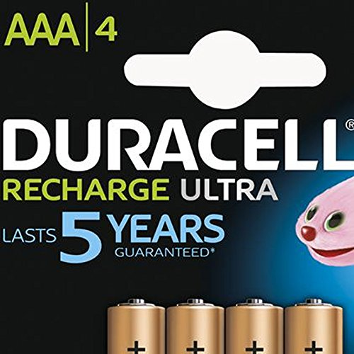 Duracell AAA HR03 Rechargeable Batteries Duralock Pre and Stay Charged 850mAh – Value 8 Pack - 4