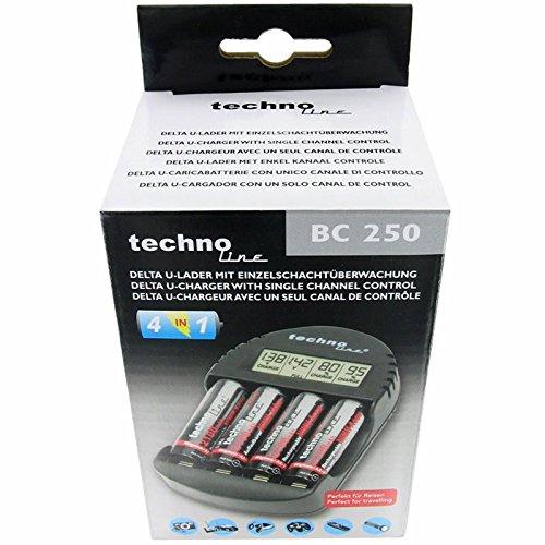 BC 250 Ladegerät mit LCD-Anzeige der Akku-Spannung, Ladefortschritt - 4