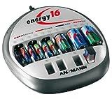 High-Tec-Ladegerät für Haushalt, Hobby, Industrie. Akku-Pflege mit automatischer Refreshfunktion für bis zu 16 Akkus gle