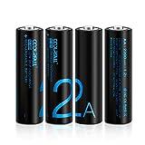 Rechargeable Akku Batterien,Coolreall 4-er Pack Vorgeladener AA Ni-Mh Akku (2200 mAh,1.2V) inkl Akku Aufbewahrungsbox