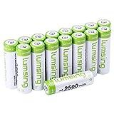 Lumsing 16 Pack AA Akku 2500mAh Ni-MH Wiederaufladbare AA Batterien Mit Batterie Speichern Box