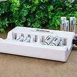 iEGrow 8-Schlitz Akku Ladegerät für AA/AAA Ni-MH Wiederaufladbare Batterie (8 LED) - 5