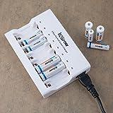 iEGrow 8-Schlitz Akku Ladegerät für AA/AAA Ni-MH Wiederaufladbare Batterie (8 LED) - 8