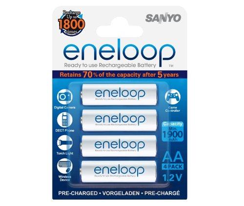 Sanyo eneloop AAReadytoUse Mignon NI-MH Akku HR-3UTGB-4BP (1900 mAh, 4er Pack)