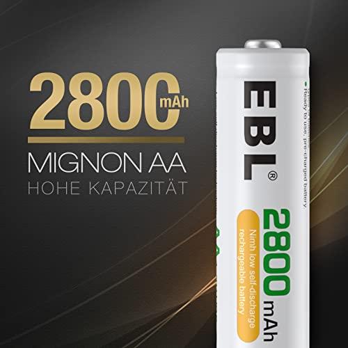 EBL 16 Stück 2800mAh hohe Kapazität AA Ni-MH wiederaufladbare Batterien - 2
