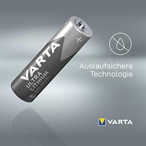 Varta Lithium Batterie (AA Mignon Alkaline Batterien LR6) 4er Pack - 6