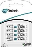 Slabo Ni-MH Mignon Akku Batterien AA wiederaufladbar – 2600mAh / 1.2V – AA Akku für Fernbedienung / Spielzeug / Game-Controller etc. – 4er-Pack - 6