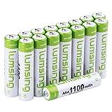 Lumsing 16 Pack AAA Akku 1100mAh Ni-MH Wiederaufladbare Batterien Mit Batterie Speichern Box