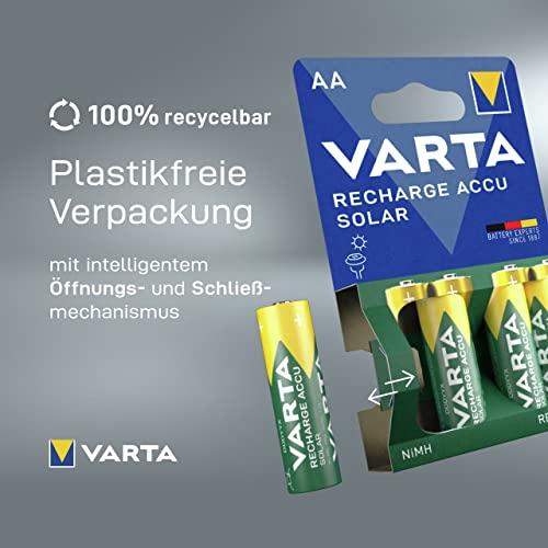 Varta SOLAR Micro NiMh Akku (AA, 800mAh, 2er Pack, wiederaufladbar ohne Memory-Effekt – sofort einsatzbereit) - 3
