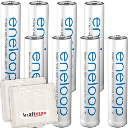 Kraftmax 8er-Pack Panasonic Eneloop AAA / Micro Akkus