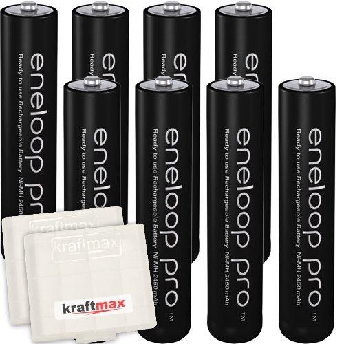 Kraftmax 8er-Pack Panasonic Eneloop PRO XX AAA / Micro Akkus