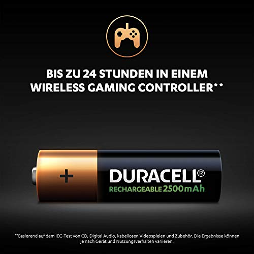 Duracell Ultra HR6 AA Akkus mit geringer Selbstentladung (2500mAh) 4er Pack - 6