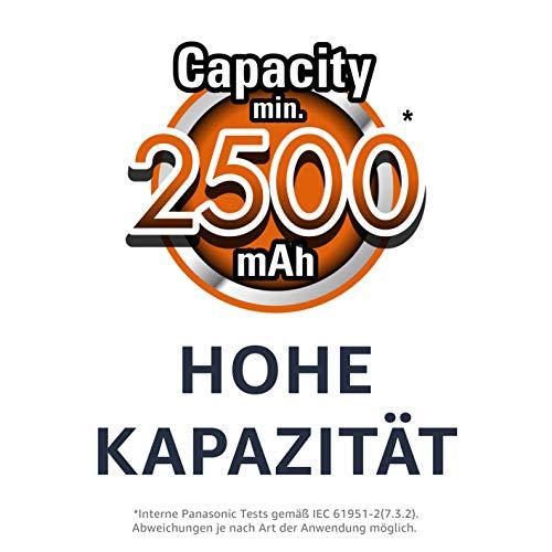 Panasonic Eneloop pro AA Ready-to-Use Mignon NI-MH Akku (2500 mAh, 4er Pack) mit extrastarker Leistung - 2