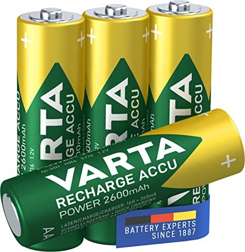 Varta Rechargeable Accu Ready2Use AA Mignon Ni-Mh Akku (4-er Pack, 2600 mAh)