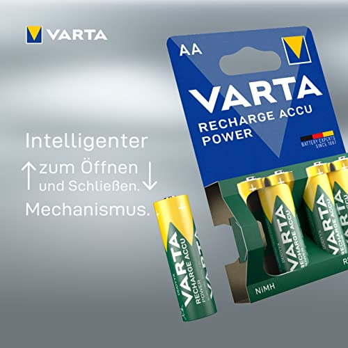 Varta Rechargeable Accu Ready2Use AA Mignon Ni-Mh Akku (4-er Pack, 2600 mAh) - 5