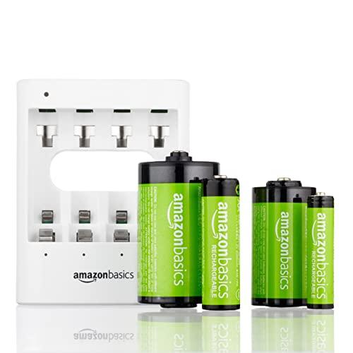 AmazonBasics Vorgeladene Ni-MH AA-Akkus – Akkubatterien, 500Zyklen (typisch 2500mAh, minimal 2400mAh), 4Stck (Design kann von Darstellung abweichen) - 4