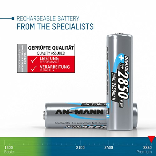 ANSMANN Mignon AA Akku Typ 2850mAh NiMH hochkapazitiv Profi Digital Kamera-Akkubatterie (8er Pack) - 3