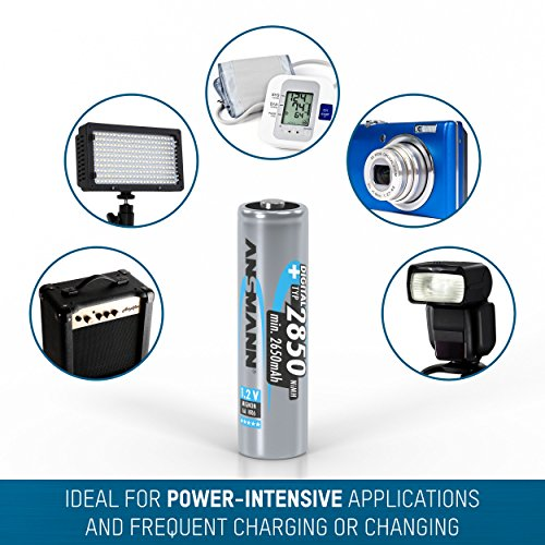 ANSMANN Mignon AA Akku Typ 2850mAh NiMH hochkapazitiv Profi Digital Kamera-Akkubatterie (8er Pack) - 5