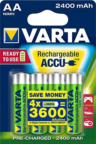 Varta Ready2Use wiederaufladbarer Mignon Ni-Mh Akku vorgeladen (AA, 2400mAh, 4-er Pack) inklusive Aufbewahrungsbox – sofort einsatzbereit - 2