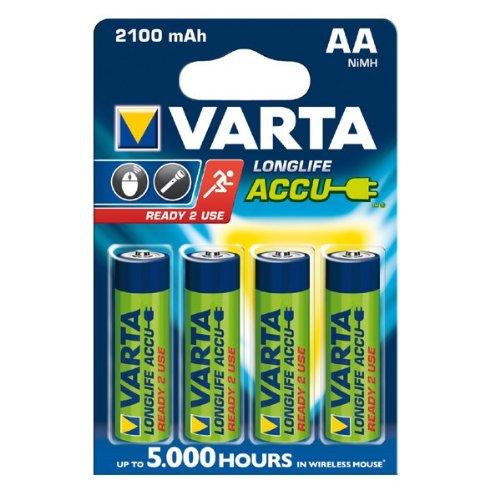 Akku Varta Longlife Accu Mignon AA Ready 2 Use NiMH 2100mAh 56706 - 4er Blister