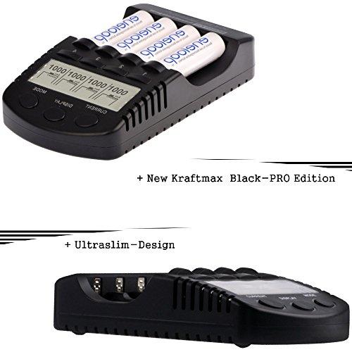 Kraftmax BC-4000 Pro Ladegerät und 8x Pansonic Eneloop AA / Mignon Akkus – Neueste Generation – Hochleistungs Akku Batterien in Kraftmax Akkuboxen V5 - 3