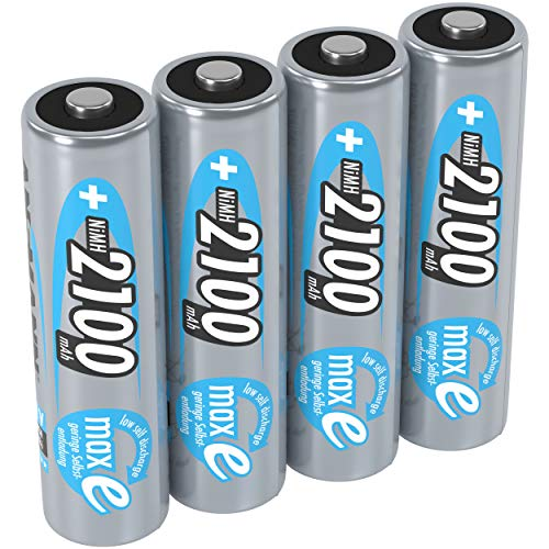 ANSMANN Mignon AA Akku 2100mAh maxE geringe Selbstentladung NiMH vorgeladene Akkubatterie (4er Pack)