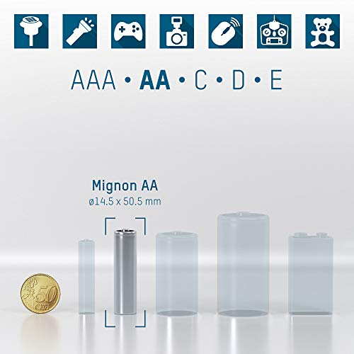 ANSMANN Mignon AA Akku 2100mAh maxE geringe Selbstentladung NiMH vorgeladene Akkubatterie (4er Pack) - 2