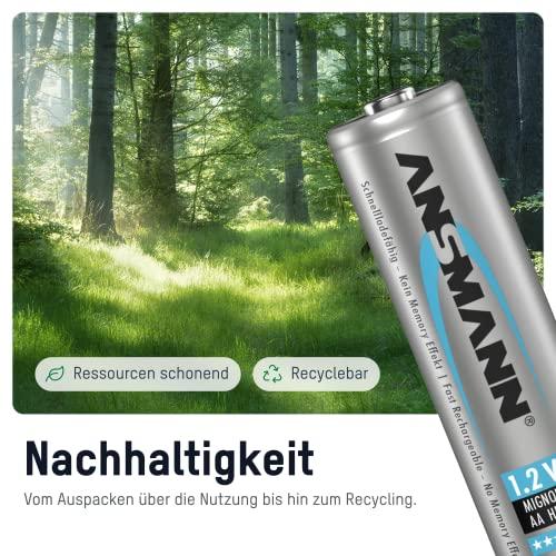 ANSMANN Mignon AA Akku 2100mAh maxE geringe Selbstentladung NiMH vorgeladene Akkubatterie (4er Pack) - 3
