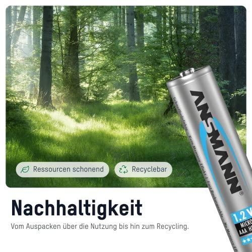 ANSMANN Micro AAA Akku Testsieger (Vergleich.org 06/2016) Typ 1100mAh NiMH hochkapazitiv Profi Digital Kamera-Akkubatterie (4er Pack) - 3