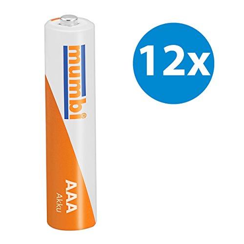 12x mumbi AAA Micro NiMH-Akku 1100mAh 1.2V Batterie - 2