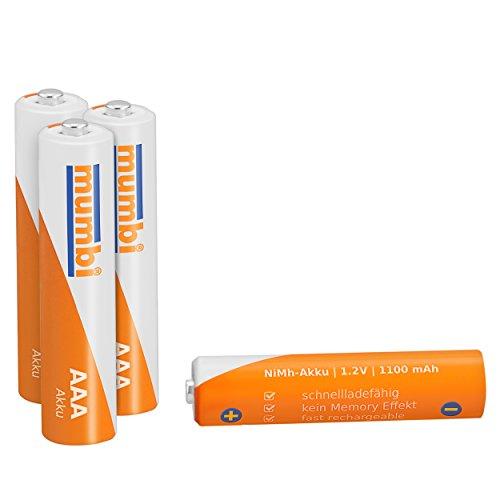 12x mumbi AAA Micro NiMH-Akku 1100mAh 1.2V Batterie - 3