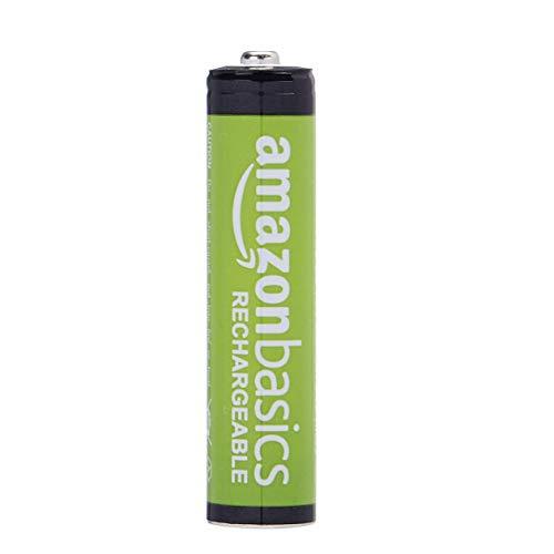 AmazonBasics Vorgeladene Ni-MH AAA-Akkus – Akkubatterien (1.000 Zyklen, typisch 800mAh, minimal 750mAh) 4 Stck (Design kann von Darstellung abweichen) - 2