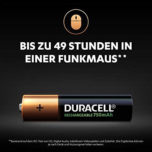 Duracell HR3-B Wiederaufladbare Batterie AAA 4 Pack - 4