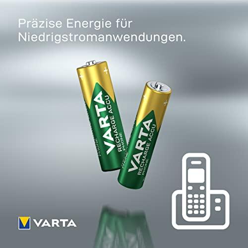 Varta Ready2Use wiederaufladbarer Phone Micro Ni-Mh Akku (AAA, 800mAh, 4-er Pack) - 5