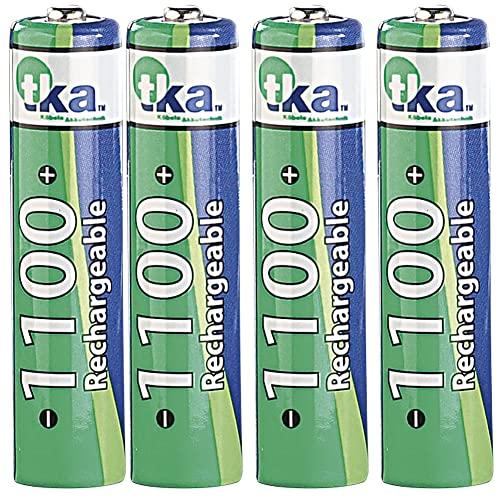 tka Köbele Akkutechnik 1100 mAh NiMH-Akkus AAA Micro 4 Stück + Batteriebox - 2