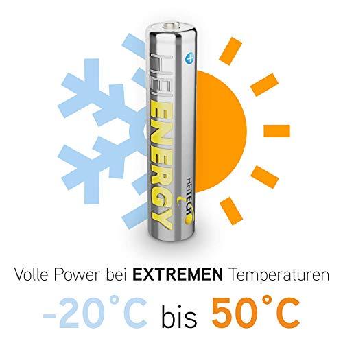 Heitech NiMH-Akku vorgeladen HR03/Micro/AAA, 800 mAh, 1,2 V, Wiederaufladbar, 04002190 - 2
