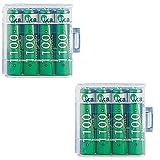 8 Stück Micro AAA HighPower 1100 mAh NiMH-Akkus AAA Micro mit Batterieboxen