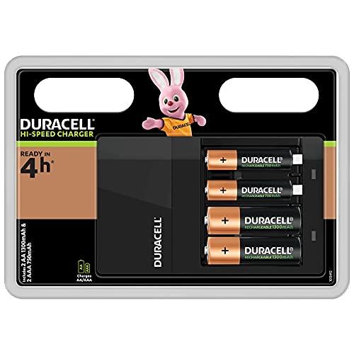 Duracell Akkuladegerät, inkl. 2 AA- und 2 AAA-Akkus, Ladezeit 4h - 2