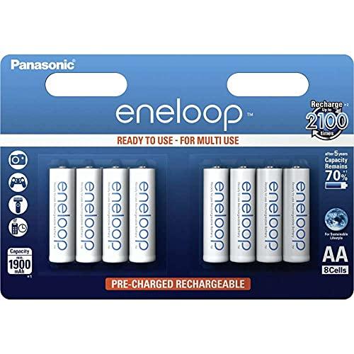 Panasonic eneloop AA Ready-to-Use Mignon NI-MH Akku BK-3MCCE/8BE (1.900 mAh, 8er Pack) -